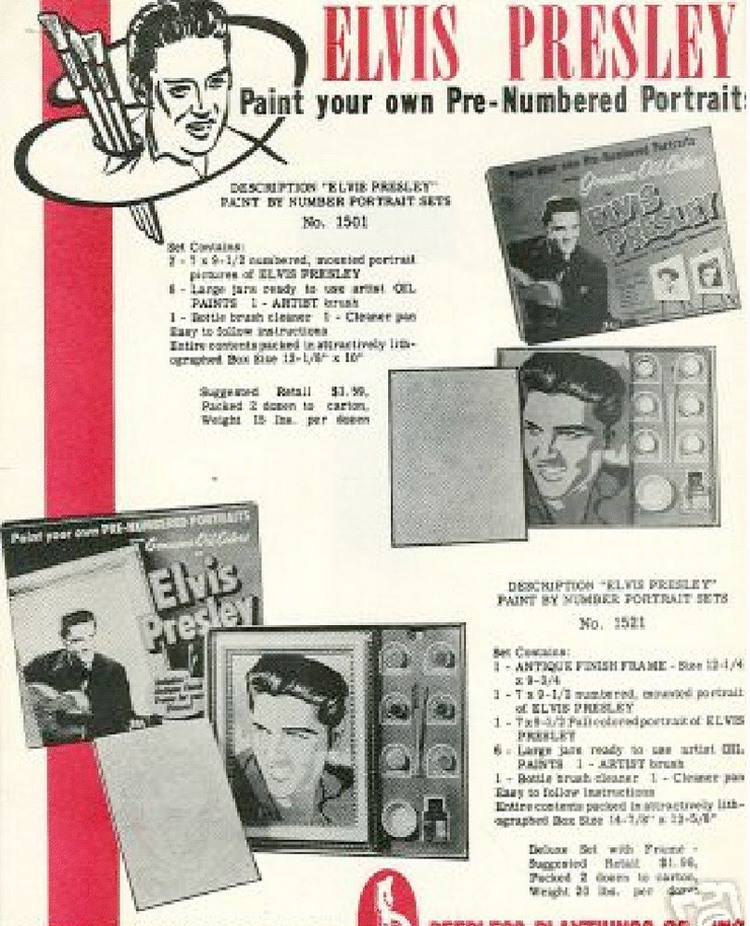 Elvis Paint Set