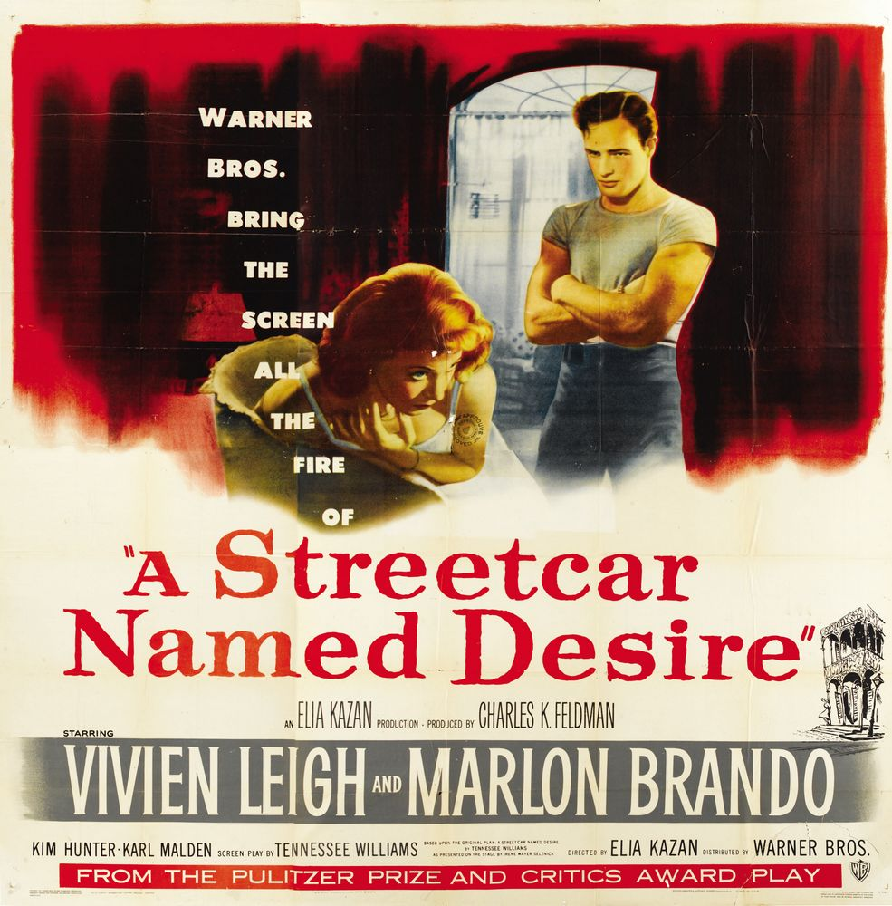A Streetcar Named Desire (1951) 6-sheet