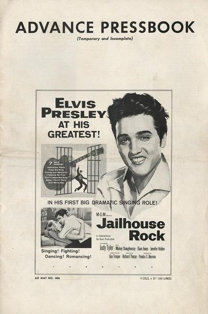 Jailhouse Rock - USA advance pressbook