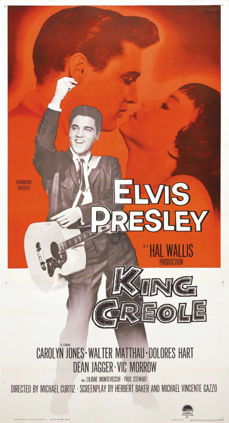 King Creole - USA 3-sheet