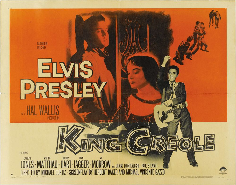 King Creole - USA half-sheet
