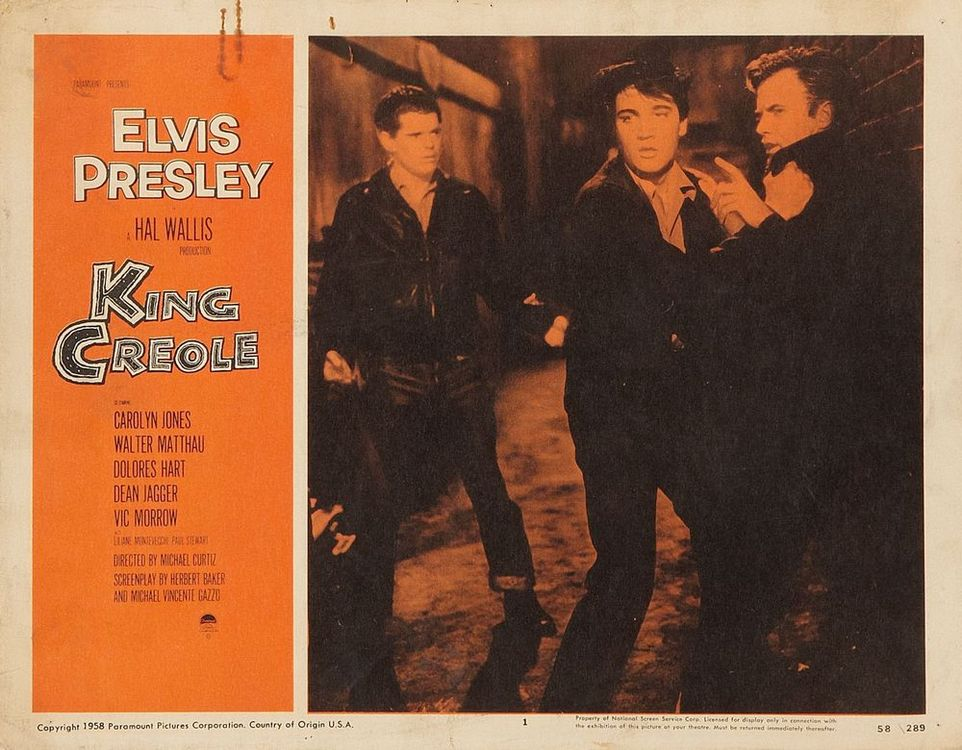 King Creole - USA lobby card 1