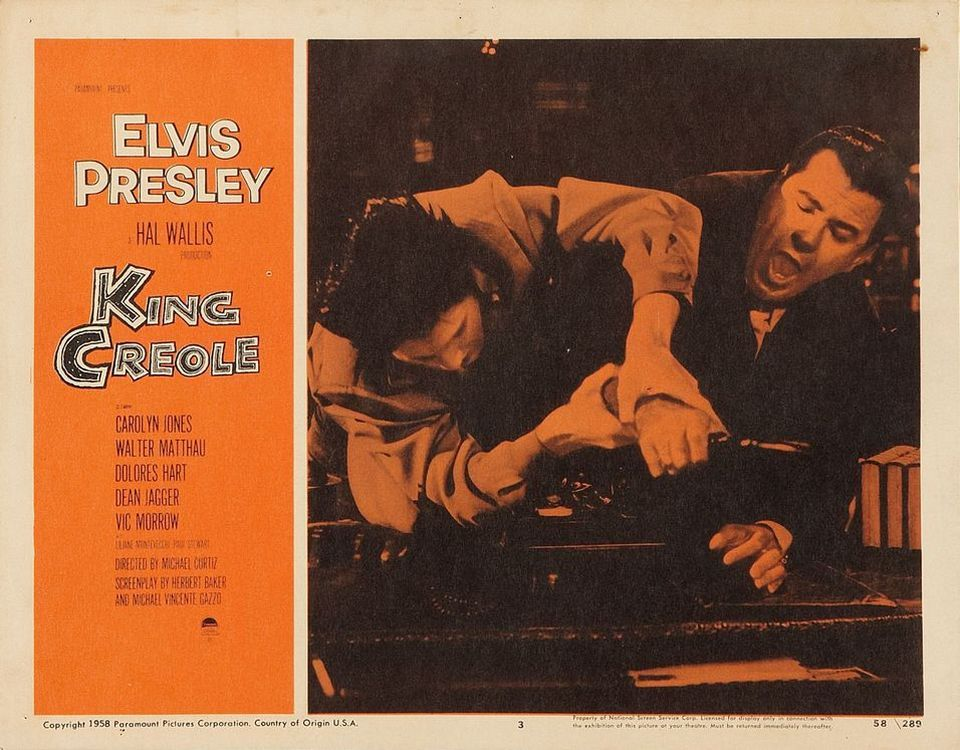 King Creole - USA lobby card 3