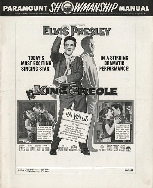 King Creole - USA pressbook