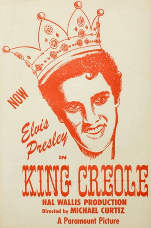 King Creole - USA promotion sticker