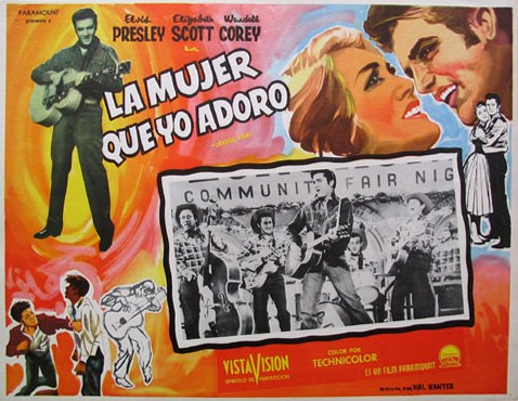 Loving You - Mexico lobby card 1