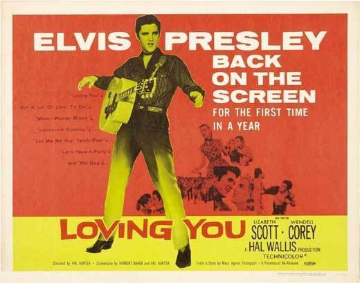 Loving You - USA half sheet (1959)