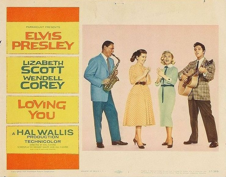 Loving You - USA lobby card 1