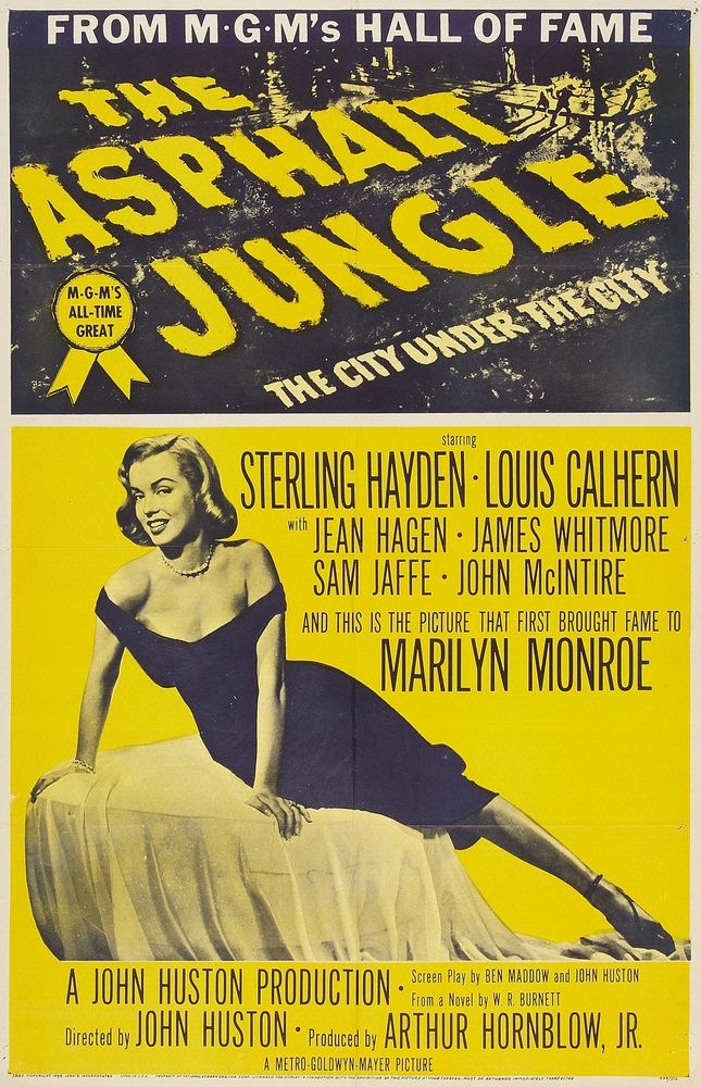 USA 1-sheet (1954, re-release featuring Marilyn Monroe)