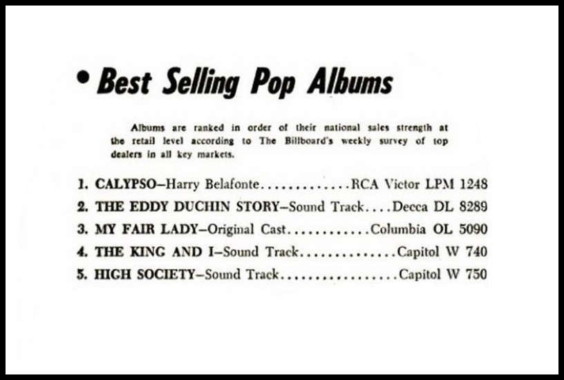 Billboard, October 20, 1956