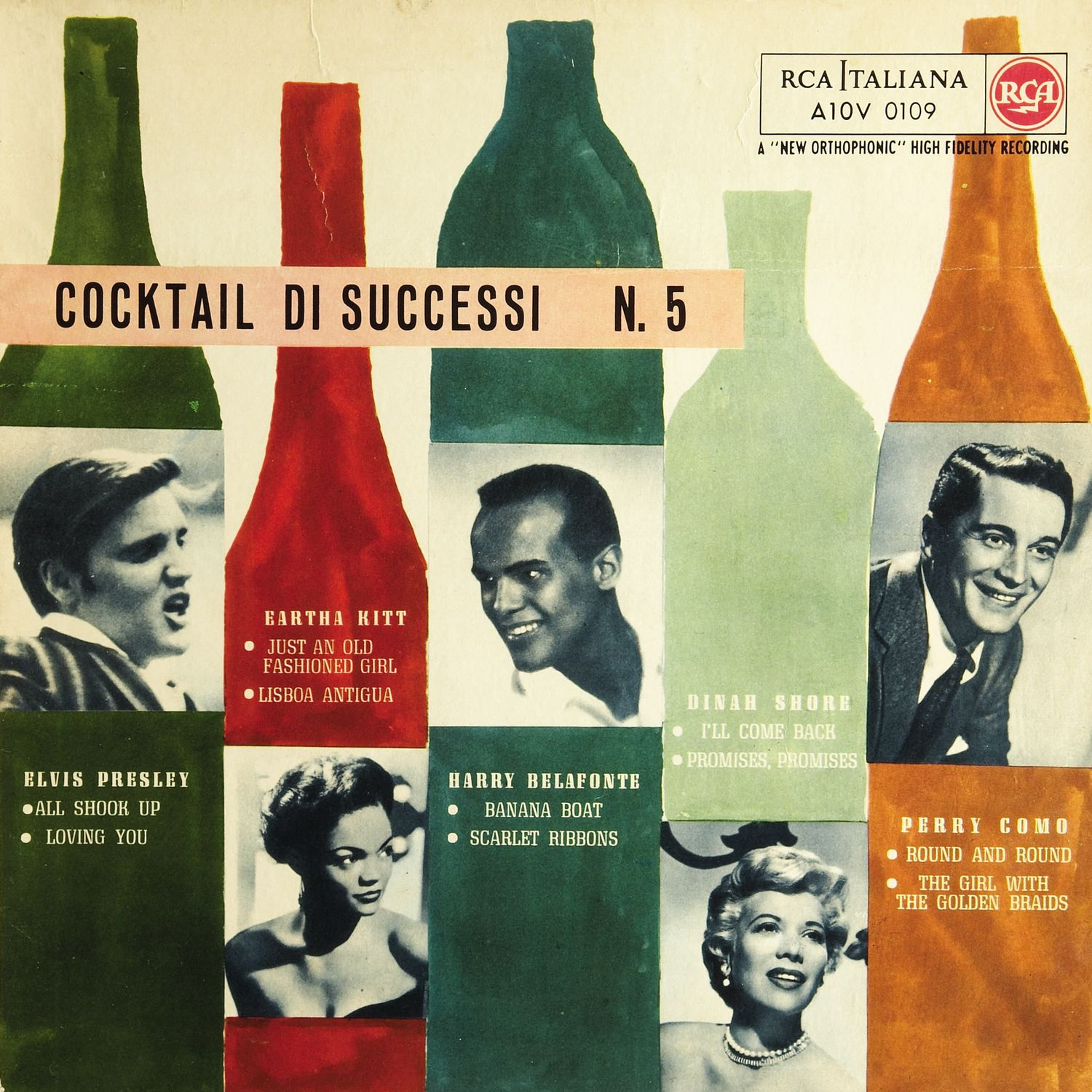 Cocktail Di Successi N. 5 (A10V 0109, Italy, 1957, 10 inch)