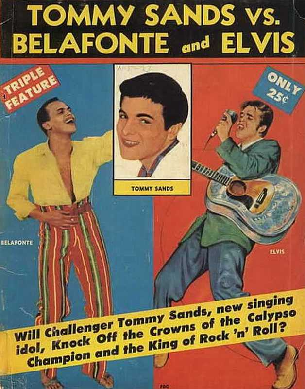 TOMMY SANDS vs. BELAFONTE and ELVIS (1957)