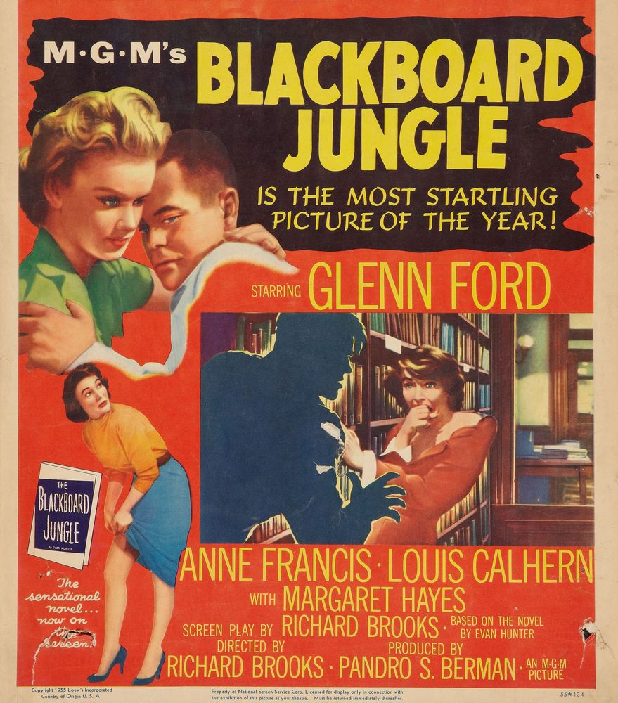 Blackboard Jungle - USA window card