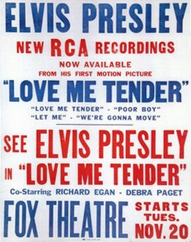 Love Me Tender - USA double ad for RCA and Fox
