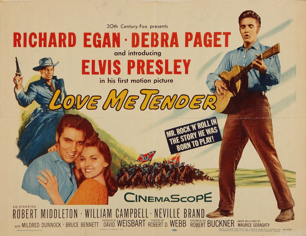Love Me Tender - USA half-sheet