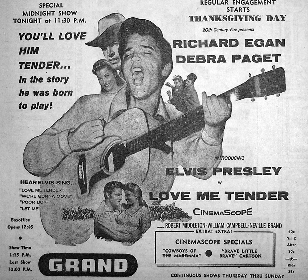 Love Me Tender - USA newspaper ad 1