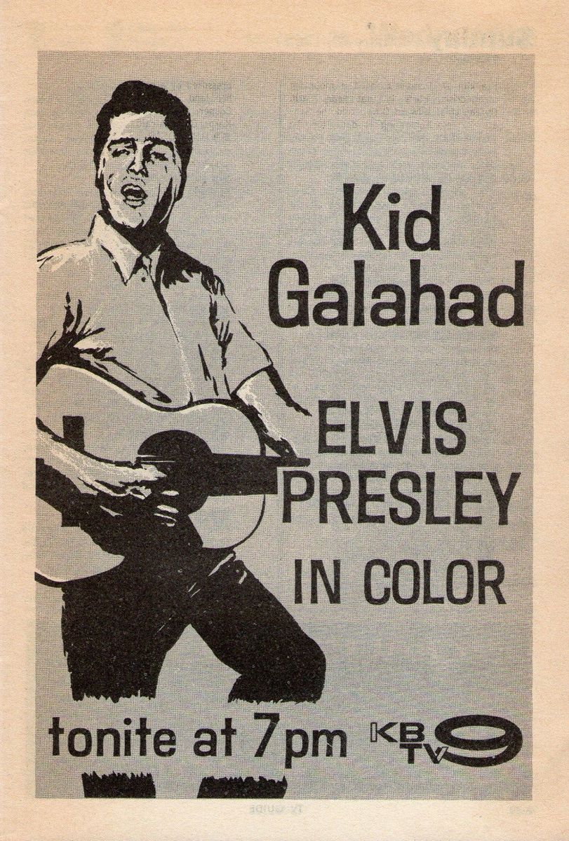 Kid Galahad - USA TV ad (1965)