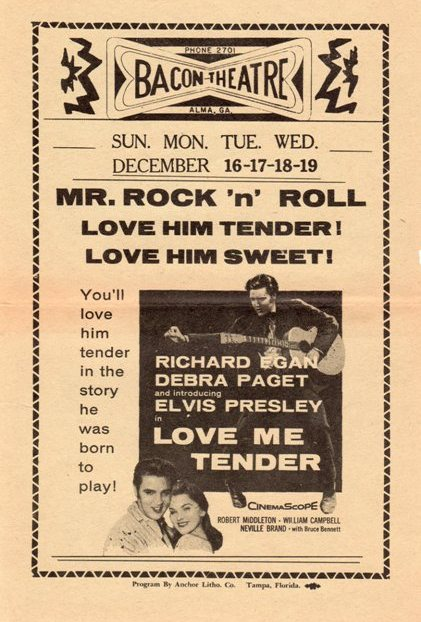 Love Me Tender - USA cinema flyer