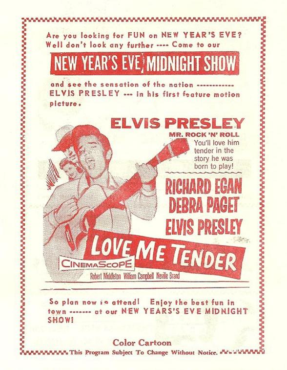 Love Me Tender - USA drive in flyer
