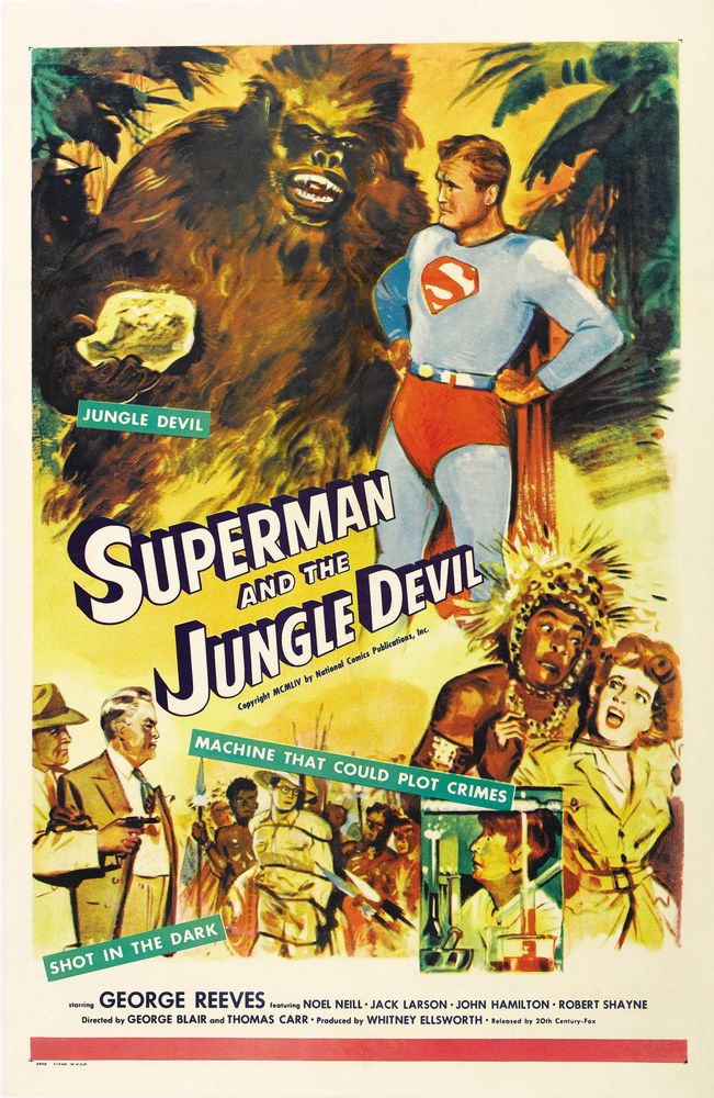 Superman And The Jungle Devil (1954) USA 1-sheet