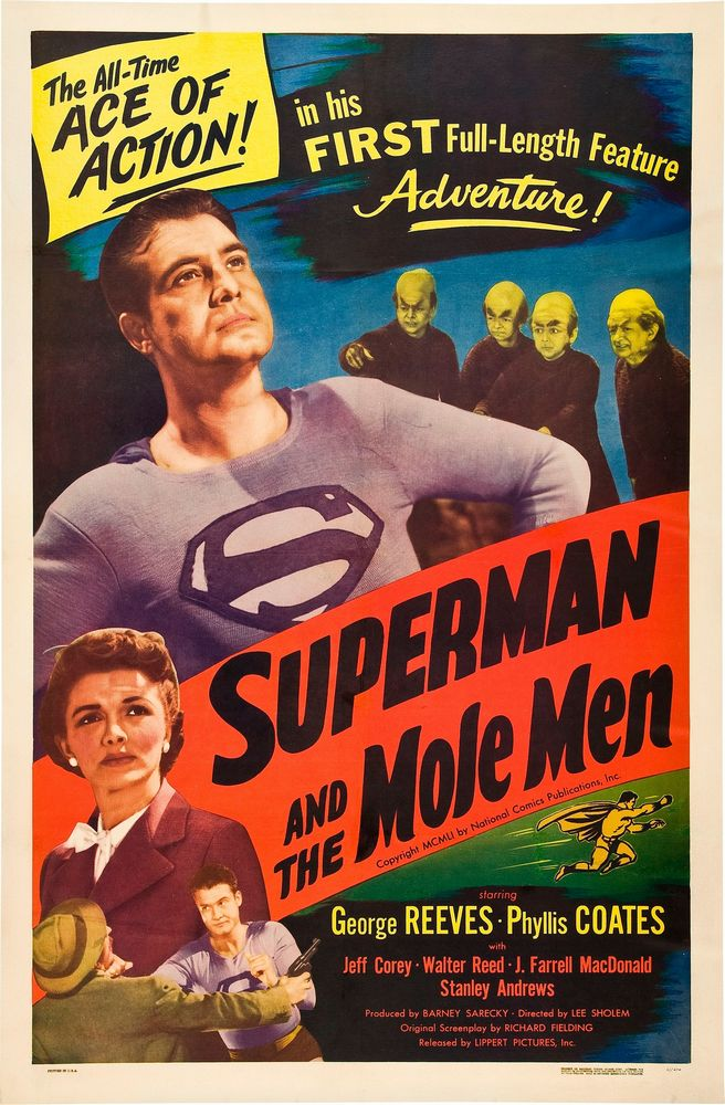 Superman And The Mole Men (1951) USA 1-sheet