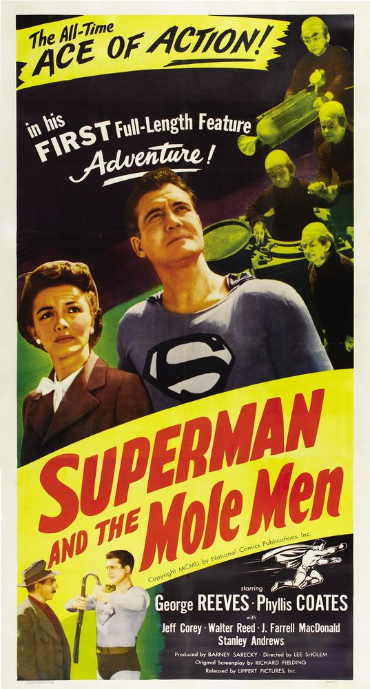 Superman And The Mole Men (1951) USA 3-sheet