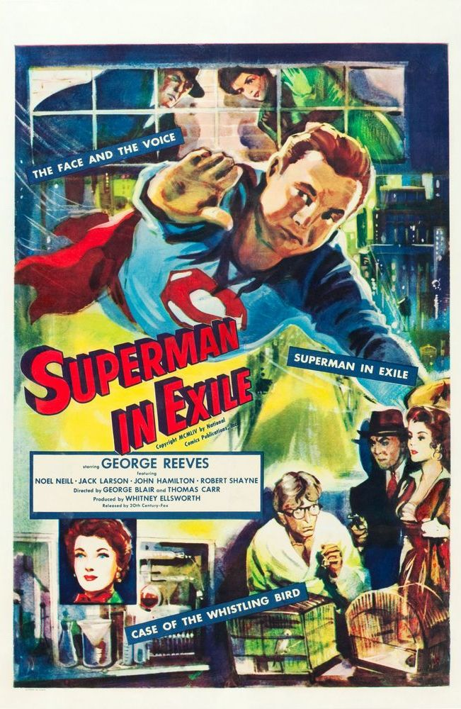 Superman In Exile (1954) international 1-sheet