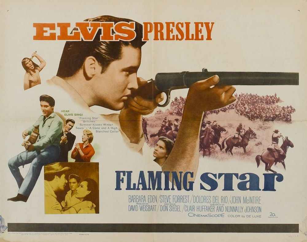 06 Flaming Star - USA half-sheet