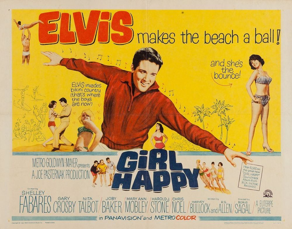 17 Girl Happy - USA half-sheet