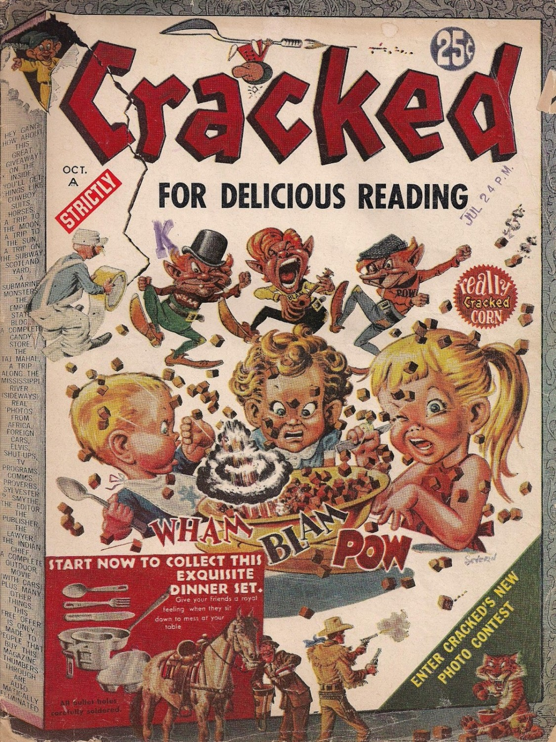 CRACKED (October 1958)