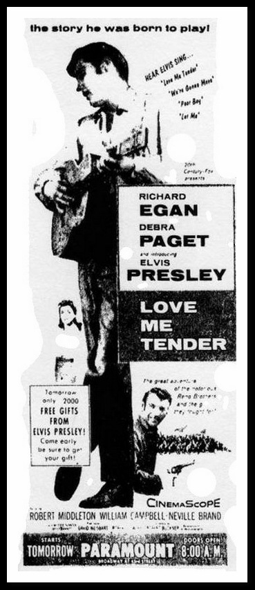 newspaper ad November 14, 1956