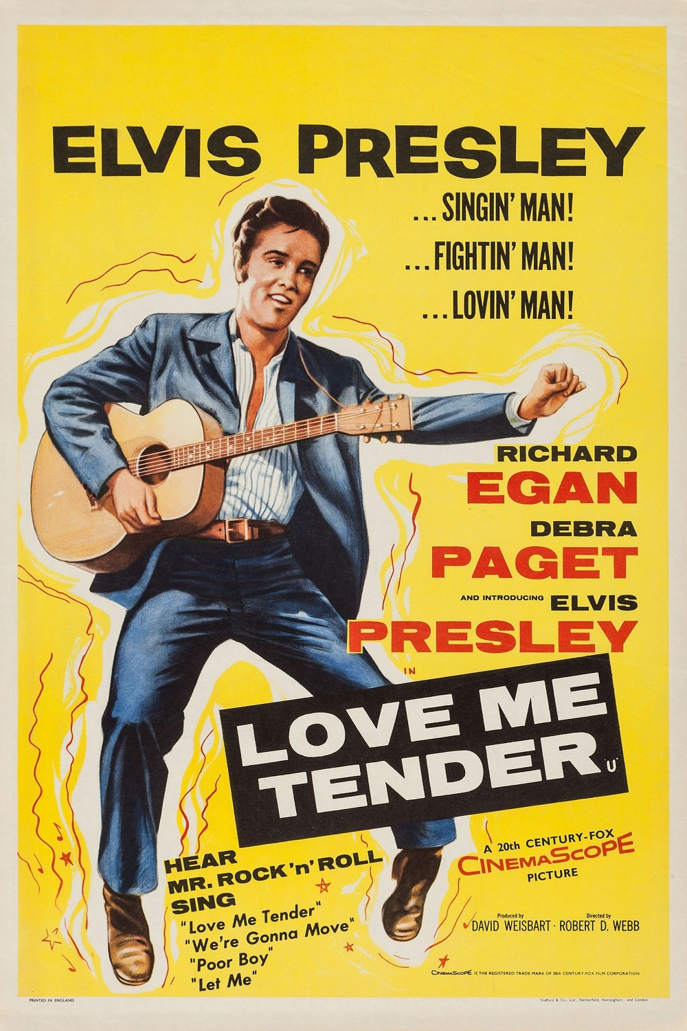 Love Me Tender - UK double crown poster