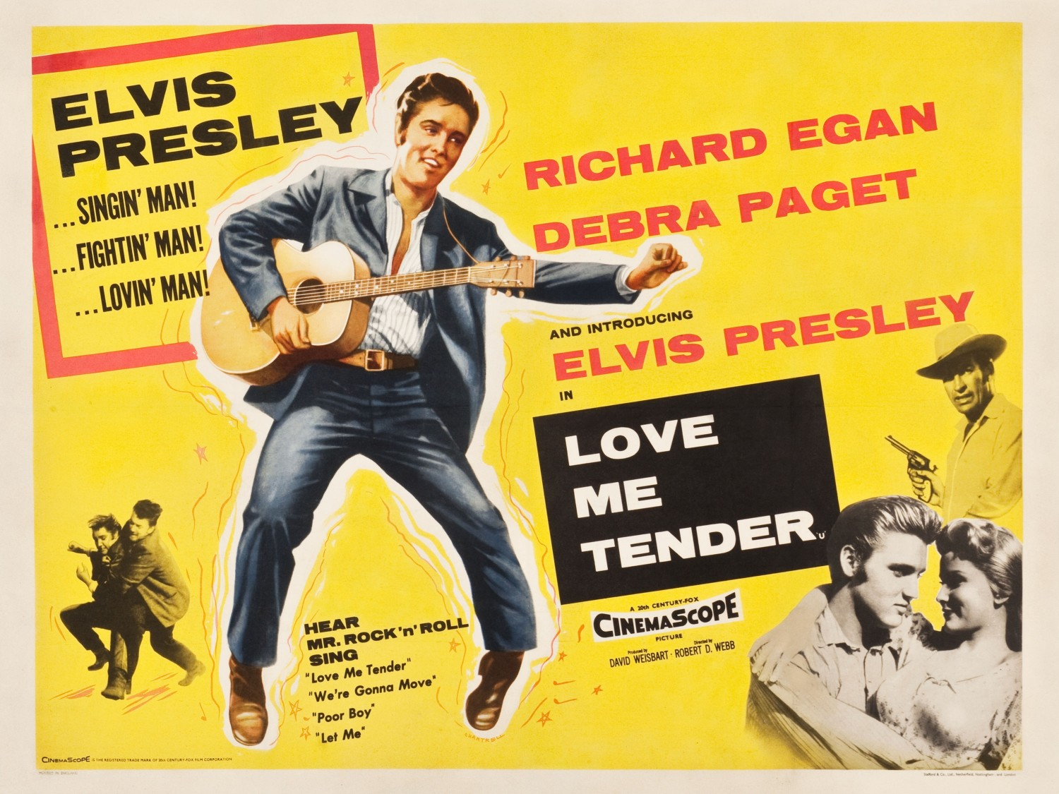 Love Me Tender - UK quad 1