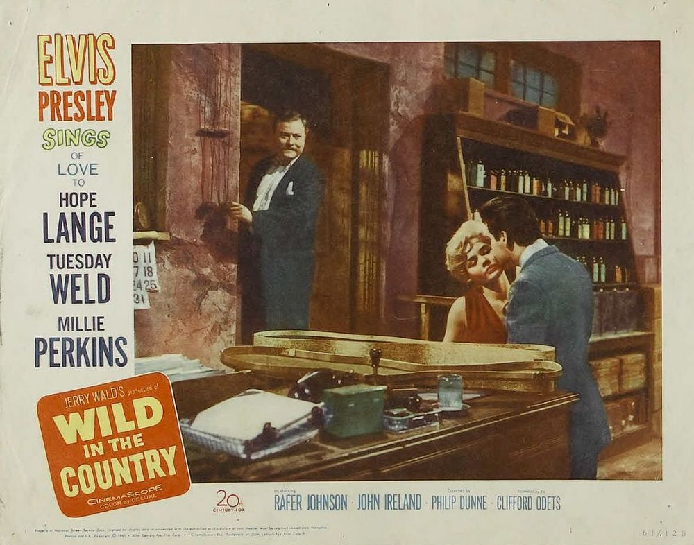 Wild in the Country - USA lobby card 1
