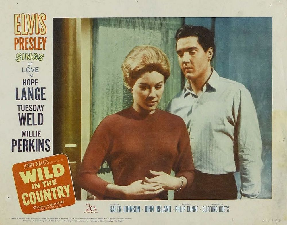 Wild in the Country - USA lobby card 3