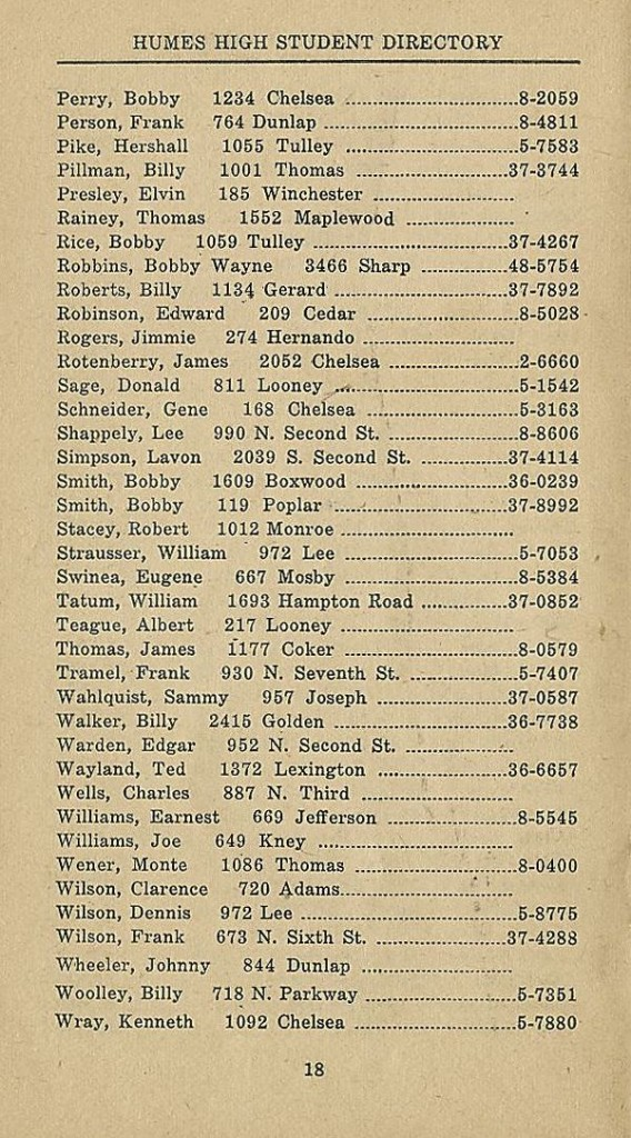 1952-53 Humes Student Directory Elvin 02c
