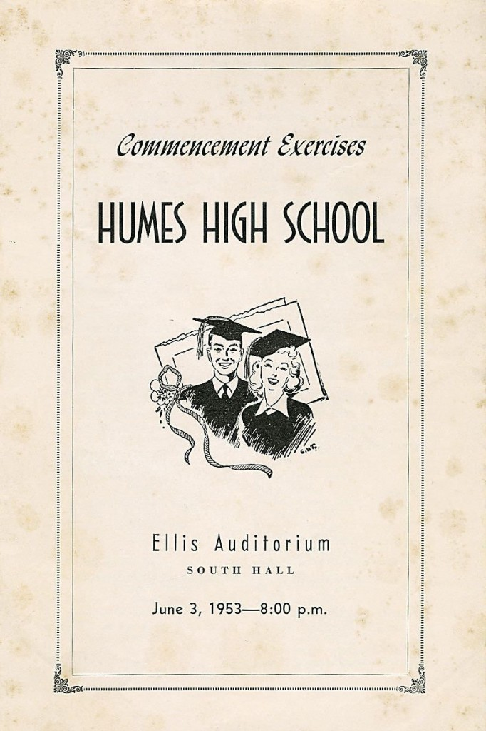 1953 High School Graduation Program. 01