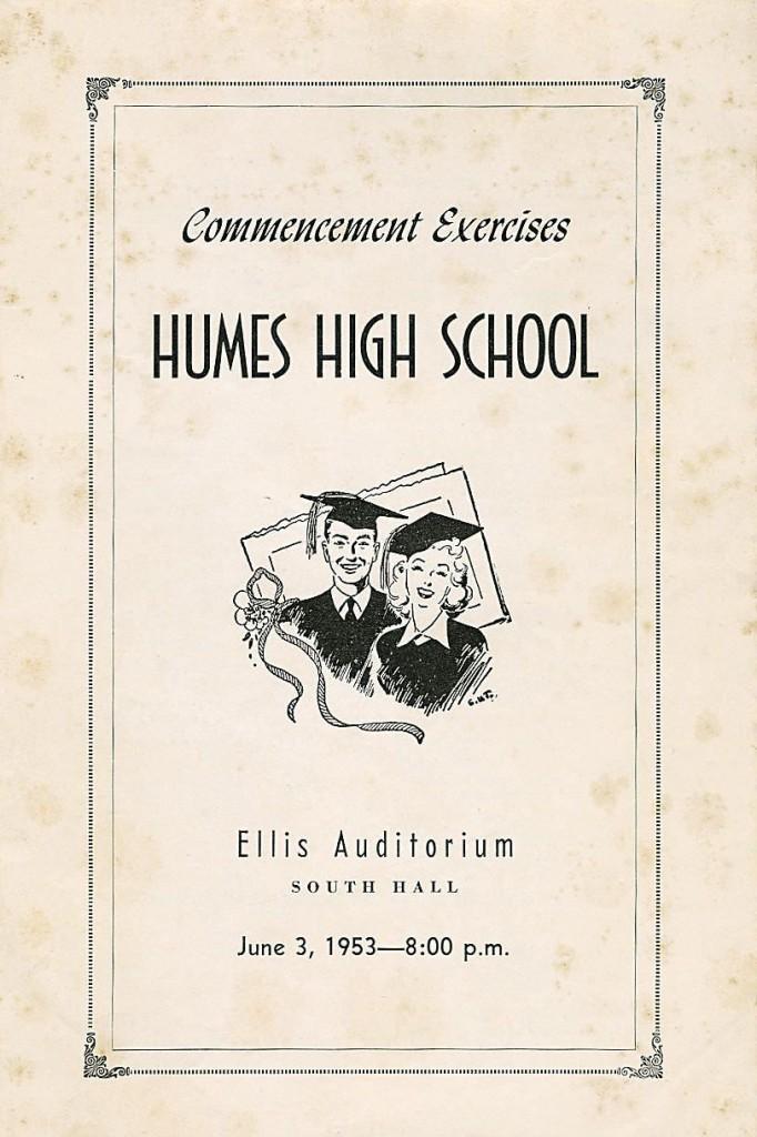 1953 High School Graduation Program. 01