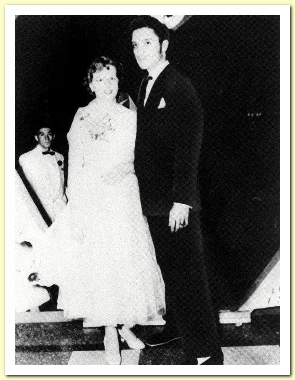 1953 May with Regis Wilson Vaughn , Humes High Junior-Senior Prom, Peabody Hotel, Memphis - c