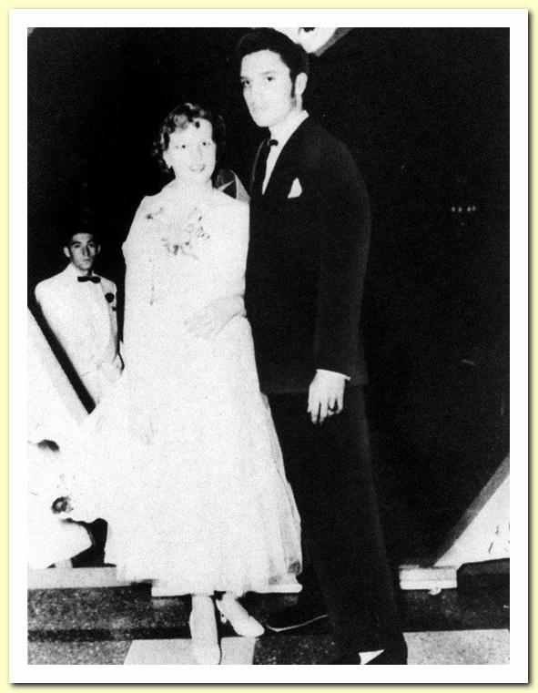 1953 May with Regis Wilson Vaughn , Humes High Junior-Senior Prom, Peabody Hotel, Memphis - c