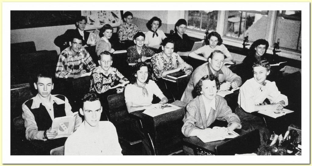 The Herald (Humes Yearbook 1953) 03 01 Biology class c
