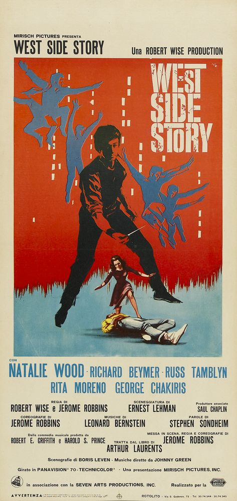 West Side Story - Italy insert (1961)