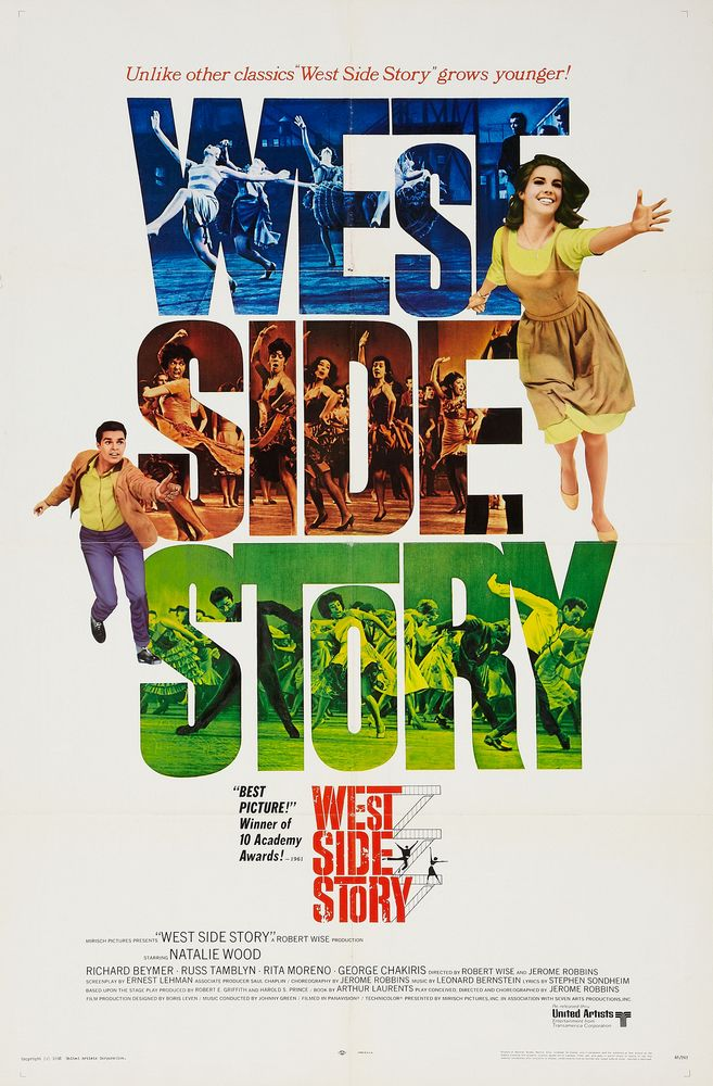 West Side Story - USA 1-sheet (1968) Oscars