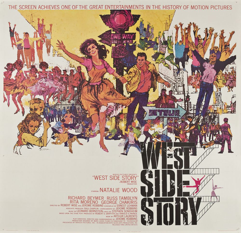 a review of the play west side story by jerome robbins Chakiris bernardo west side story (1961) directed by jerome robbins and robert wise, screenplay by ernest lehman, book of musical play by arthur laurents, with natalie wood as maria, richard beymer as tony, russ tamblyn as riff, rita moreno as anita, george chakiris as bernardo, simon.