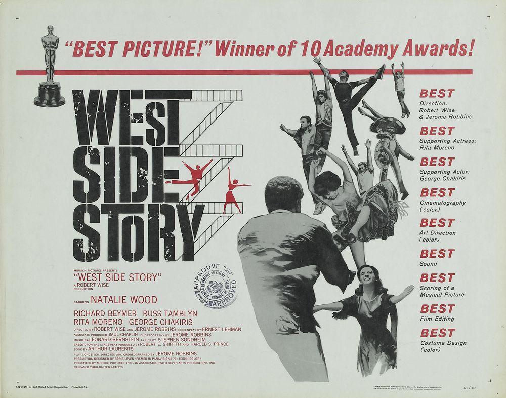 West Side Story - USA half-sheet (1962) Oscars
