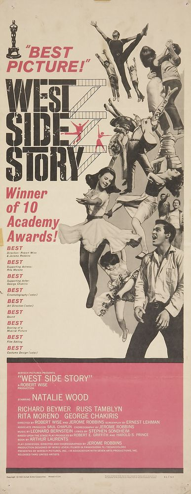 West Side Story - USA insert (1962) Oscars