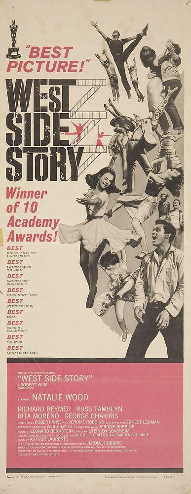 West Side Story - USA insert (1962) Oscars