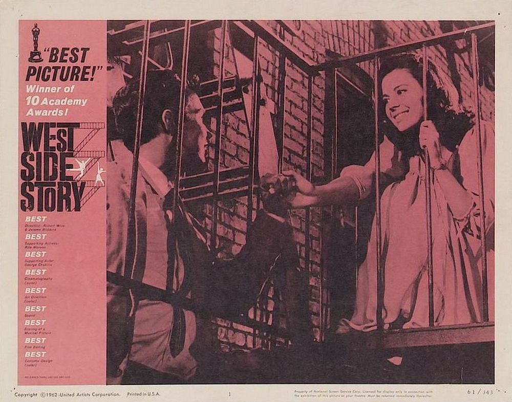 West Side Story lobby card 1 Oscar