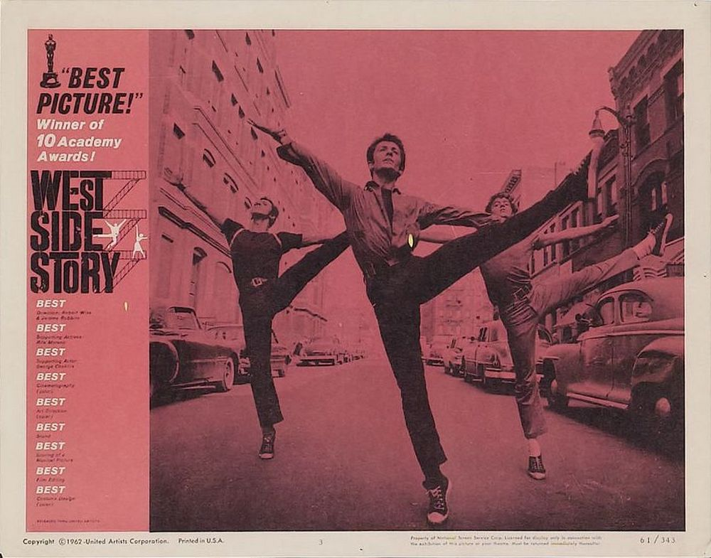 West Side Story lobby card 3 Oscar