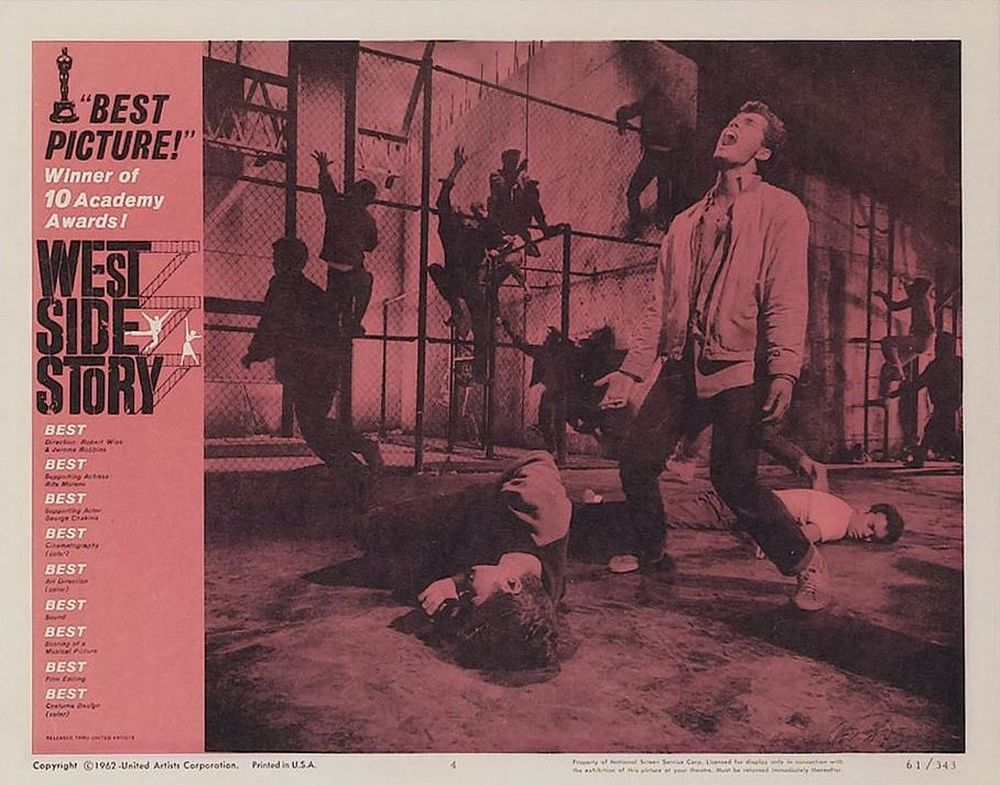 West Side Story lobby card 4 Oscar